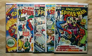 OLD SPIDER-MAN COMICS: 1973-1980: Bronze Age: Large Lot: Nice!