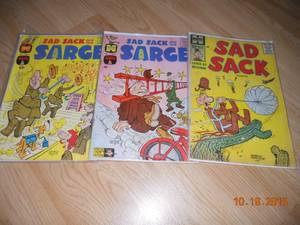 (3) 1960's Sad Sack Comic Books (Auburn)