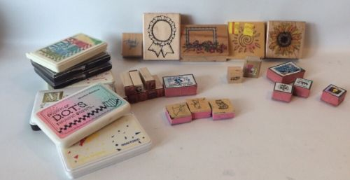 Lot Of Rubber Stamps Ink Pads 30 Pcs Letters School Projects