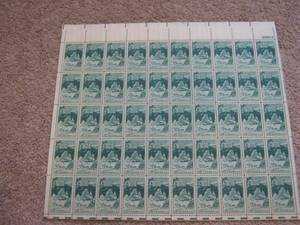 Stamps: US Sheet Scott #1011 Mt. Rushmore 25th Anniv c1952 (Spearfish)