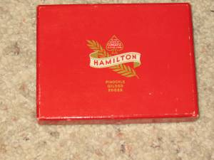 Vintage Box Hamilton Playing Cards W/ 2 Sealed Decks Tax Stamps (Tulsa/Sand