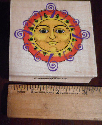 rubber stamps crafts Embossing Arts Co. Ornate Sun