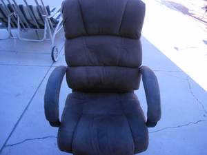 Great Brown Leather Computer Chair - Excellent Condition (Las Vegas)