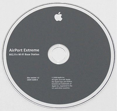 Apple AirPort Extreme 802.11n Wi-Fi Base Station DVD for Mac