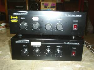 2 speco technologies P.A. Amplifiers (new berlin)