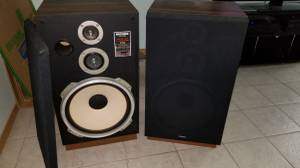 High quality high-power stereo speakers - Fisher ST830 (Orchards)