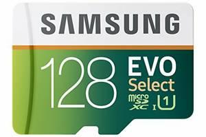 Samsung 128GB 80MB/s EVO Select Micro SDXC Memory Card -NEW (SAN GABRIEL)