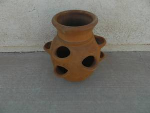 Terracotta Strawberry Pot (Boulder City, NV)