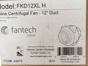 Fantech FKD 12XL Fantech Inline 12-Inch Centrifugal Fan, 2016 cfm NEW (NW Las