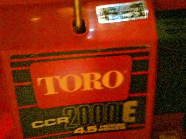 Toro Ccr2000e