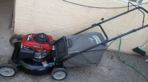 Craftsman with Honda engine gas lawnmower, lawn mower works and starts