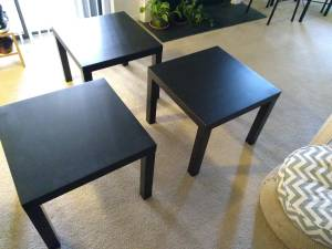 Three small and clean tables