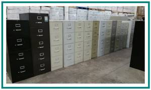 4 DRAWER VERTICAL FILE CABINETS *key/delivery available