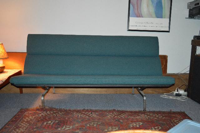 Midcentury Eames Sofa Compact