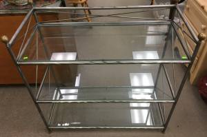666 3 Tier Glass/ Metal Display Shelf (Glenside)