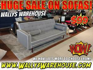 Stylish Sofa - Living Room Couch - Table and Loveseat Furniture Sale (free