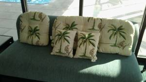 New Seating Cushions Set - Tropical Theme (Monkies & Palm Trees) (Midtown East)