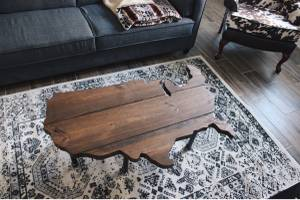 Rustic AMERICANA Coffee Table USA American America Table Industrial (Mcallen)