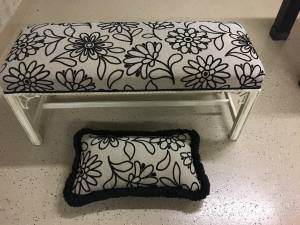 Bed Bench - Black/White/Tan (NE Indy)