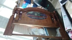 Wooden Head, Footboard, Metal Bedframe (West Side Indy)