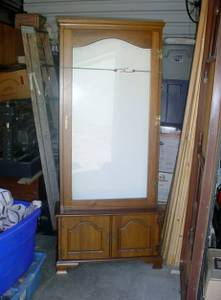 6 Foot tall lighted Display Hutch MS (Arlington)