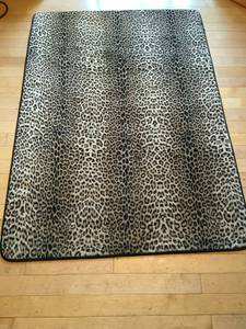 Leopard print Area Rub 5.5' by 4', Excellent (Tacoma)