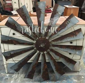 Rustic Windmill Head Fan Western Ranch Barn Farmhouse Wall Decor