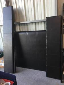 Black Sleigh Bed Set (EXIT 29 STORAGE)