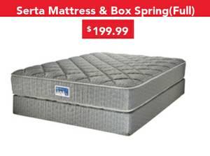 Serta Full Size Mattress & Box Spring Sale!! $199.99 (Memphis)