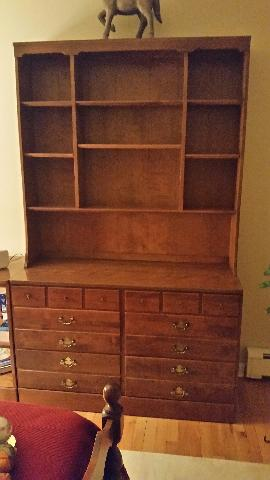 Ethan Allen Dresser with Bookcase