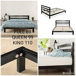 New Full/Queen/King Platform Bed frame with headboard