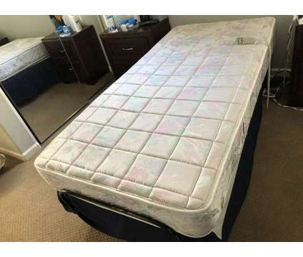 Adjustable Comfort Twin Bed Frame & Mattress