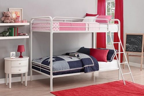 Bunk Beds Twin Over Twin Size Childs Bed Bedroom Furniture
