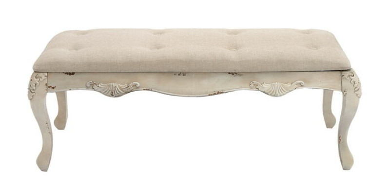 The Heavenly Wood Fabric Bench