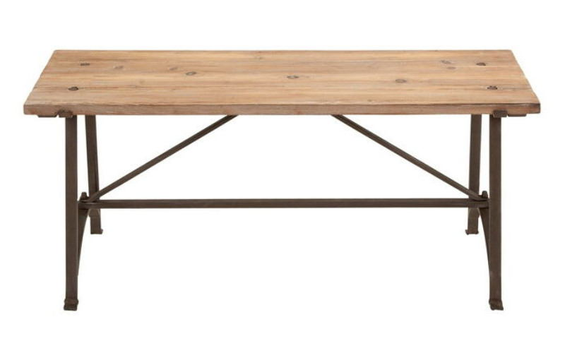 Restoration Metal Wood Bench