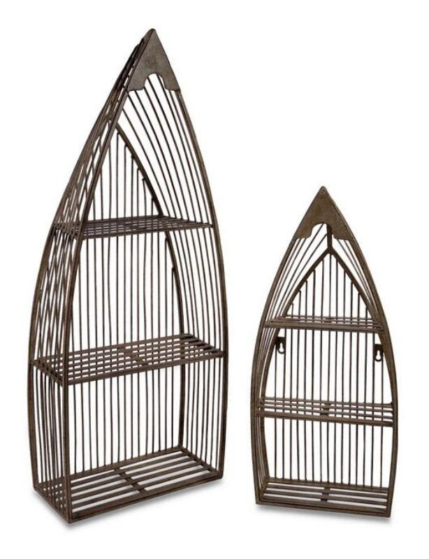 Creative Set of 2 Nesting Boat Shelves