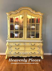 Vintage Drexel French Country China Cabinet (Heavenly Pieces - Middletown)