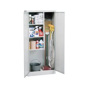 Freestanding Combination Storage Cabinet in Dove Gray