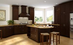 European style Expresso Shaker Kitchen Cabinets 10x10 (md,dc,va)