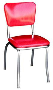 4 Retro chairs - red cracked ice (Tigard)