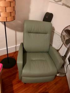 Green Leather Electric Recliner (San Pedro)