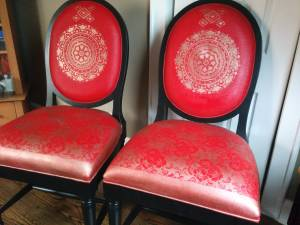 Two red chairs (Glendale)