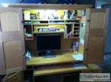 Quality Hide-Away Desk with Locks - Price: $