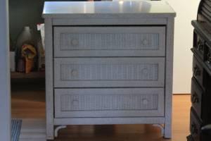 Child's White Wicker Dresser and Night Stand (Sykesville)