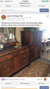 Two ornate vintage dressers (Rowley)
