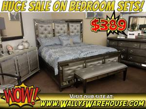 Bed Set in King or Queen Size Frame and Dresser - Bedroom Sale (free delivery