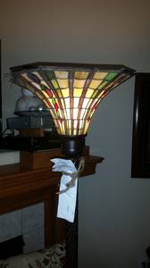 Brand New Stained Glass Floor Lamp (Gresham)
