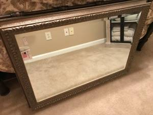 Ashton Company distressed antique beveled mirror