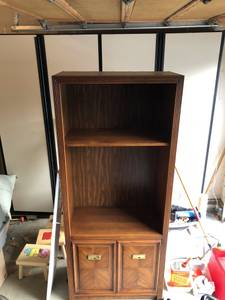 Oak Book Shelf / Credenza (Lake Oswego)