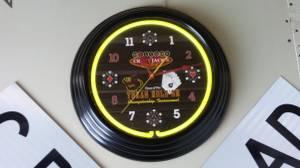 Poker Neon Clock (Columbus)